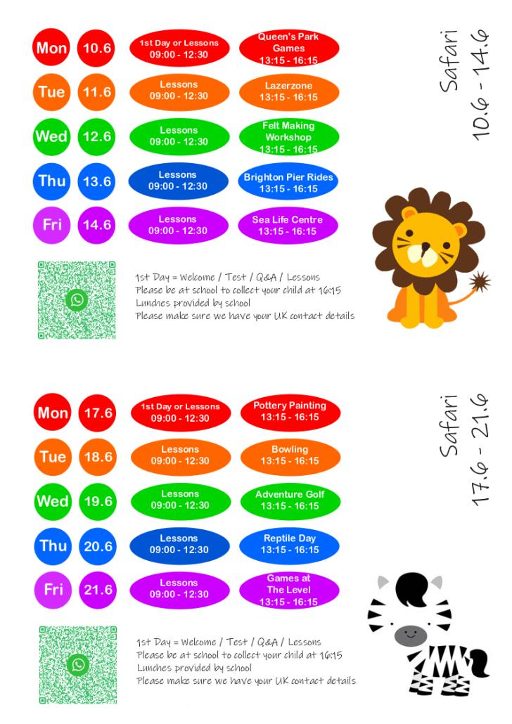 XS20 schedule week 24 25